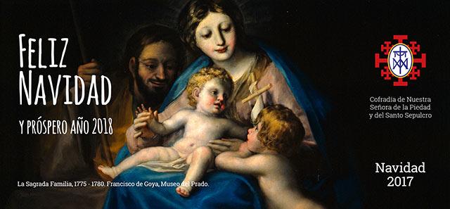 Felicitación Navidad 2017 Cofradía de la Piedad Zaragoza