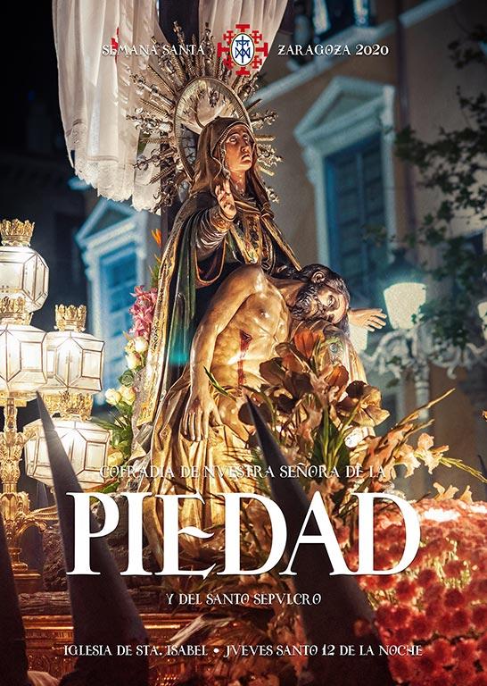 cartel 2020 semana santa 2020 cofradía de la piedad zaragoza