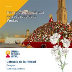 Ofrenda de flores virtual con el Grupo de la Piedad